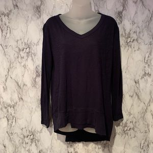 3/$15 V Neck Asymmetrical Hem Top